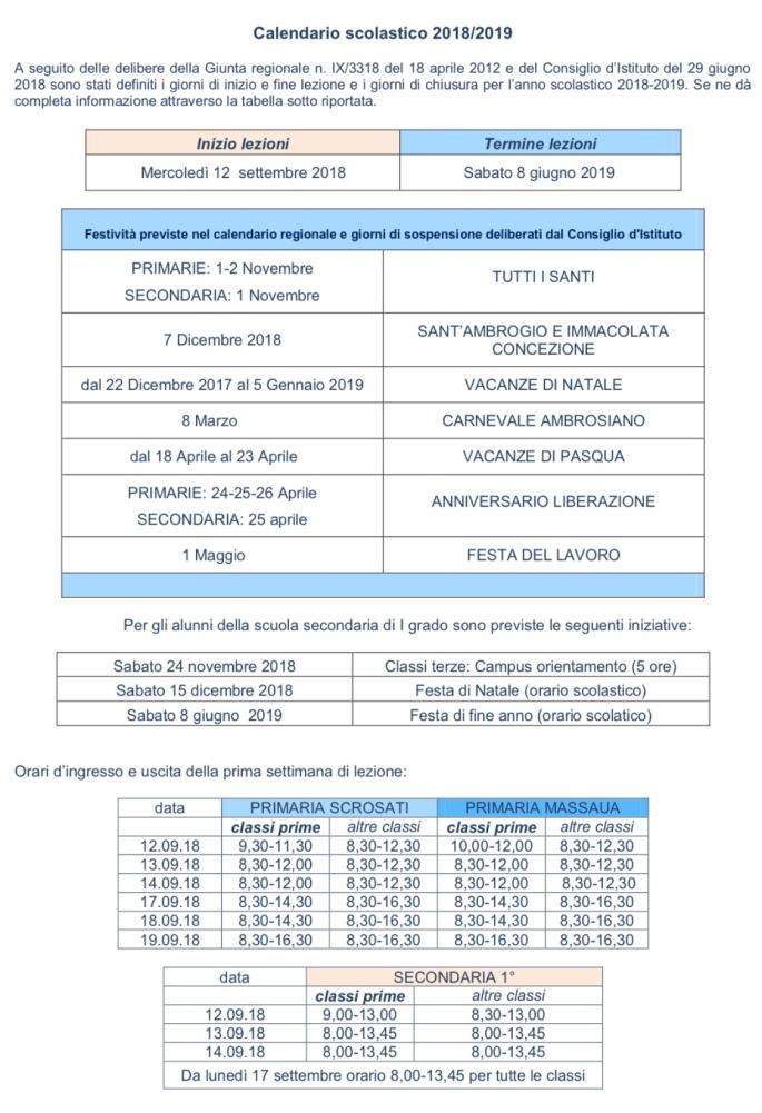 Calendario Mese Giugno.Giugno 2018 Scuola Elementare Via Scrosati